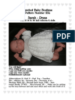 Dress knitting pattern for small reborns or baby dolls