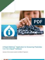 A Rapid iMethod Application Screening Pesticides v 2 4 Cliquid Software All Modules[1]