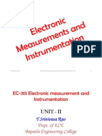 Electronic Measurements and Instrumentation - 2 CRO