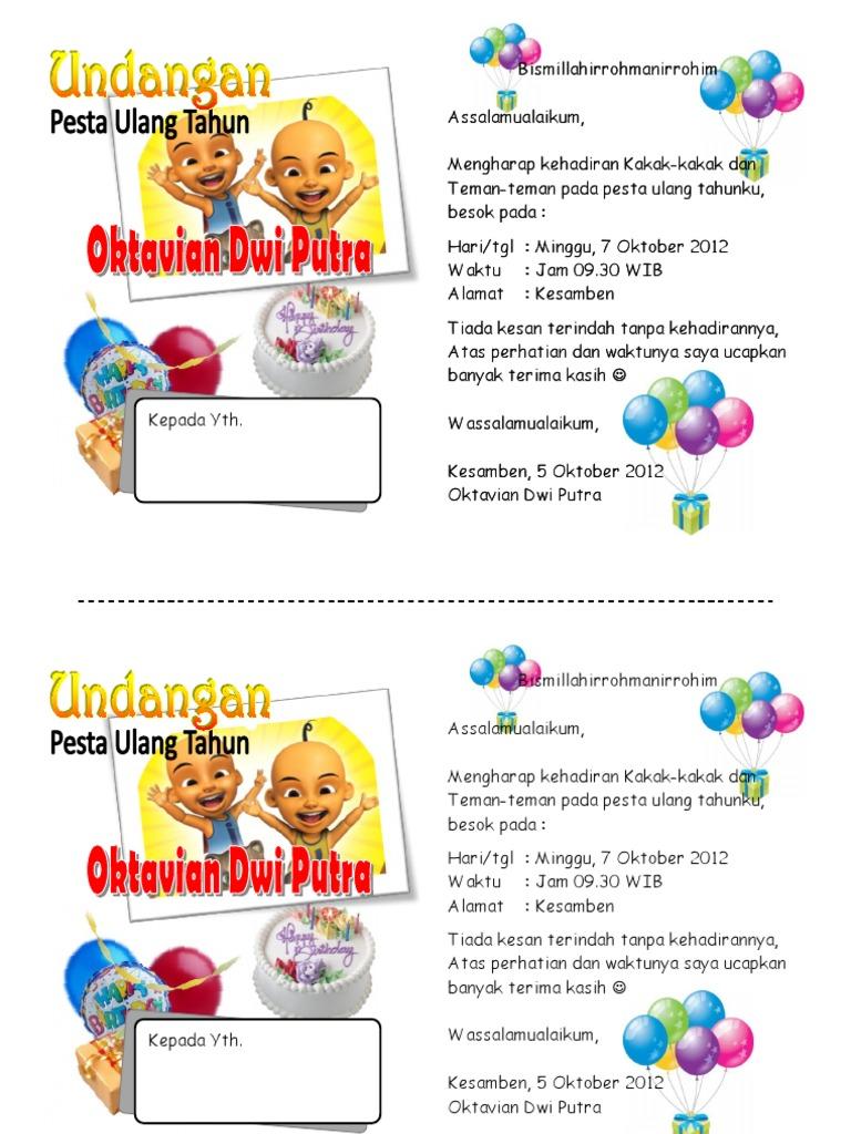 Desain Undangan Ulang Tahun Remaja Kosong - kartu ucapan keren