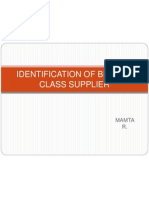 4 Identification of Best-In-class Supplier