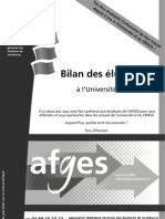 Bilan des élus 2010-2012 de l'AFGES