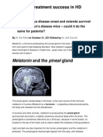 Melatonin Treatment Success in HD Mice
