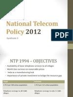 National Telecom Policy 2012