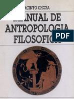 Manual Antropología Filosofica. JACINTO CHOZA