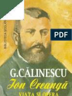 Calinescu George - Viata Si Opera Lui Ion Creanga (Cartea)