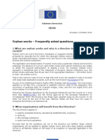 20121004-MEMO-Final adoption of the orphan works directive-Press release-FAQ-ENG