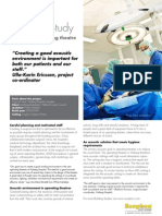 Sound Treatement case study - Operating theatre