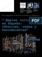 """Taller """"Empleo cultural en España"""