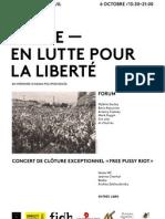 Programme forum-concert - Russie en lutte pour la liberté