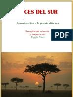 Voces Del Sur Antologia de Poetas Africanos