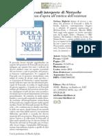 Foucault interprete di Nietzsche, di Stefano Righetti