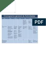 Cronograma Actividades Ecuador