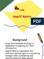 11 Ansoff Matrix