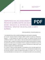 Competencia Pedido de Quiebra Contra Off Shore Uruguaya