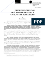 State High Court Rulings Indicative Of Alabama's Civil Justice Turnaround