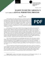 Restoring Reason To South Carolina's Environmental Permitting Process