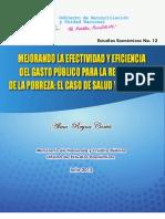 Alma Reyes Cortez Ago.-2012 Mejorando Efectividad Del Gasto Publico en Salud y Educacion