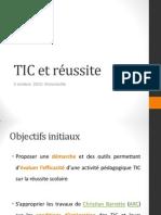 TIC et réussite - Atelier 5 octobre 2012