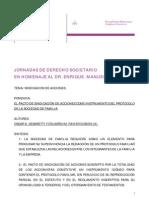 Pacto de Sindicacion de Acciones y Protocolo