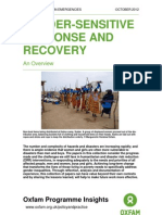 Gender Sensitive Response and Recovery