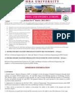 2 Year Double Degree Programme (Sweden) Brochure 2012 13