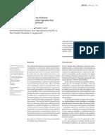 ¿Existen relaciones entre los factores  ambientales rurales y la salud reproductiva  en la Pampa Húmeda Argentina?