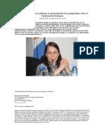 Dra. Graciela Gómez plantea la gravedad de los plaguicidas ante el Parlamento Europeo