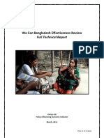 We Can Campaign Bangladesh Project Effectiveness Review