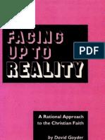 Facing Up to Reality - David Goyder