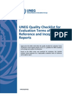 UNEG G 2010 1 Quality Checklist for Evaluation TOR Inception