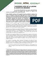 Nota Prensa. Muerte de Aves en Laguna Del Aceite Oct 2012
