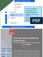 Guía (mercantil-contable) del capital social. Edición Septiembre 2012