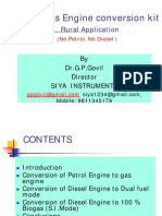 Small Biogas Engine Conversion Kit Rural Application_Dr. G.P. Govil, Ideal Institute