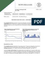 Bureau Labor Statistic  Report