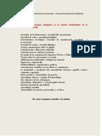 Listado de conceptos trabajados en la materia Problemática de la Comunicación 2012