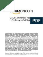 Amazon Q2 '12 Earnings Presentation