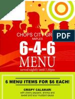 Chop's Bar Menu