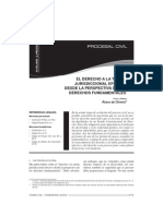 Carlos Alberto Alvaro de Oliveira - El derecho fundamental a la tutela jurisdiccional efectiva a partir de los derechos fundamentales