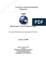 2008 Global Go to Think Tanks