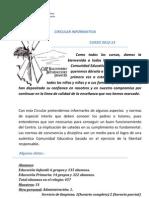 Circular Inicio Curso 2012-2013