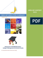 UPES SIP Executive Summary 2013 by Vijai Kumar Baskaran