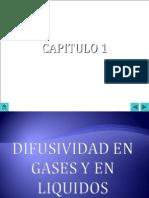 Capitulo(1) Difusividad en Gases y en Liquidos
