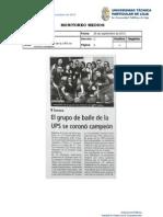 Informe de prensa semana del 28 de septiembre al 5 de octubre/2012