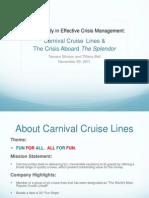 Carnival Crisis Presentation Edits