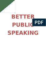 Better Public Speaking