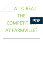 How to Beat the Competition at Farmville