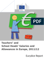 Teachers' and School Heads' Salaries and Allowances in Europe, 2011/12