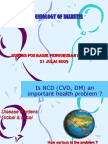 Epidemiology of Diabetes 2009