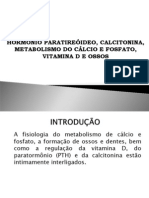 Trabalho - Fisiologia Humana - Hormonio Paratireoidede